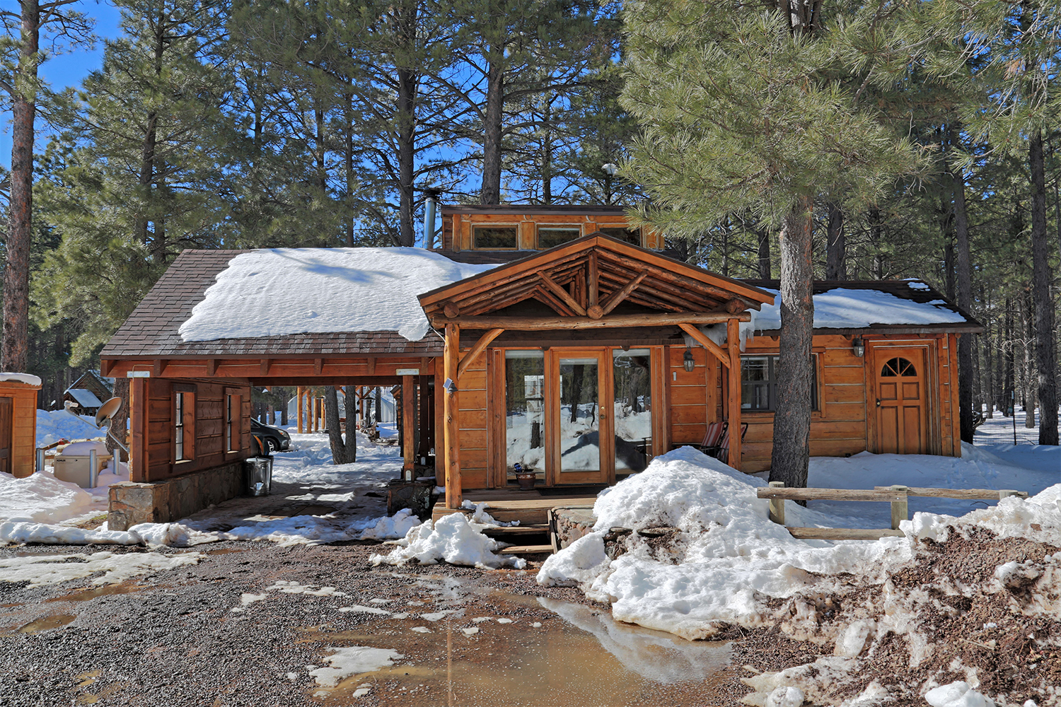 Off grid luxury cabin for sale in flagstaff 16587 n for Az cabins for sale