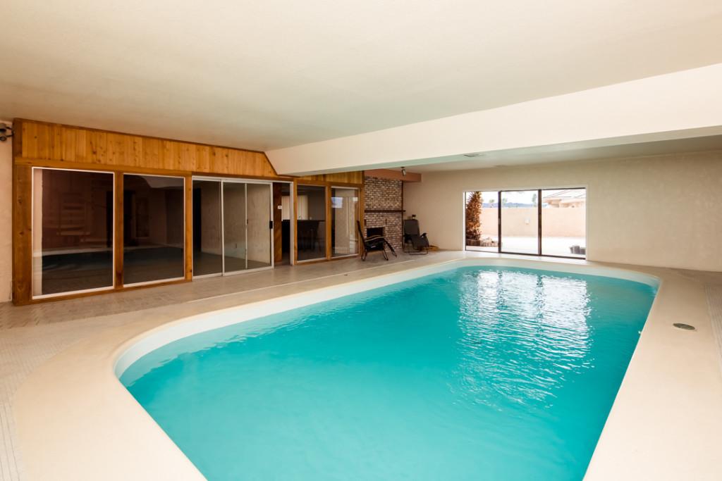 indoor pool home in Havasu