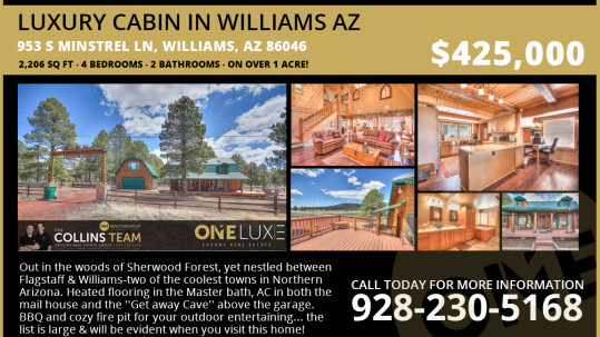 Luxury Cabin in Williams AZ
