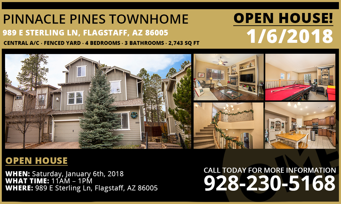 Pinnacle Pines Town Home Open house
